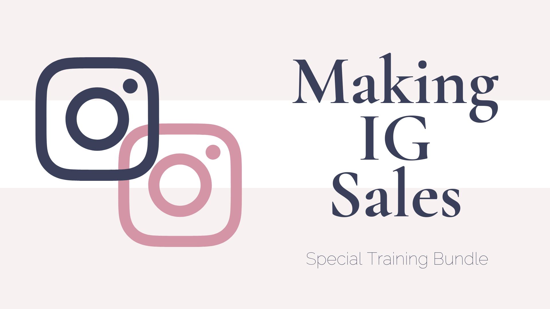 making IG sales bundle